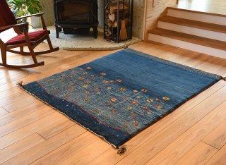 ペルシャンギャッベ ブルー系  ドザール 約157×187cm ラグサイズ