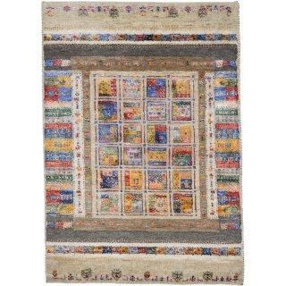 インド手織ギャッベ 「ディーヤバンブー」 ベージュ系 玄関マットサイズ 約80×120cm