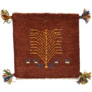 ペルシャンギャッベ レッド系 座布団サイズ 約41×39.5cm