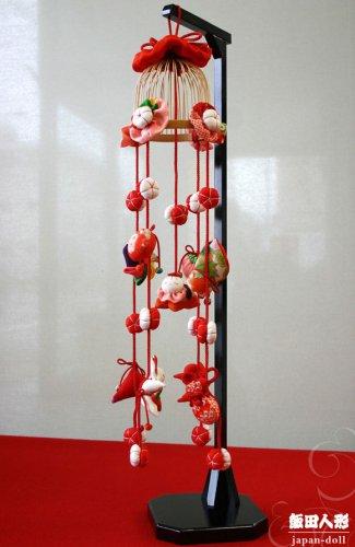 正絹古布 花かご釣鐘飾り