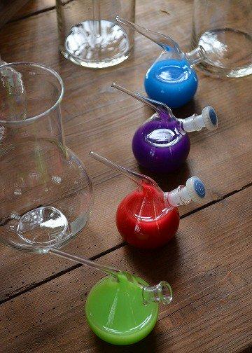 フランスアンティークのケミカルシリンダー, シリンダー,アンティークガラス,理科の実験用,花瓶,ジャグ,水差,ブロカント,アンティーク雑貨,通販,販売5