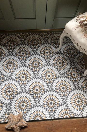 アンティークタイル 14センチタイル セメントタイル 輸入タイル 古材 フランスタイル シャビーな床材 フロアータイル 通販1