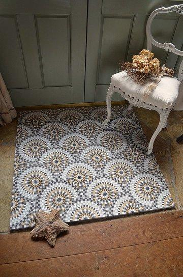 アンティークタイル c 14センチタイル セメントタイル 輸入タイル 古材 フランスタイル シャビーな床材 フロアータイル 通販2