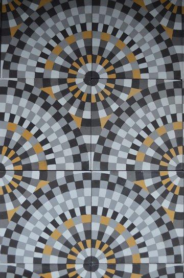 アンティークタイル c 14センチタイル セメントタイル 輸入タイル 古材 フランスタイル シャビーな床材 フロアータイル 通販7