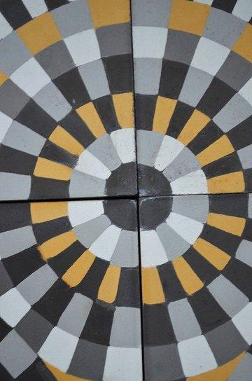 アンティークタイル c 14センチタイル セメントタイル 輸入タイル 古材 フランスタイル シャビーな床材 フロアータイル 通販6