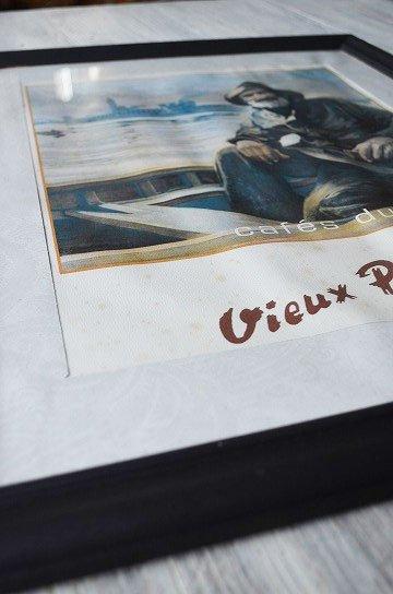 Cafe du Vieux Pecheur,Lucien Goubert,ルシアン ジョルジュ,アンティークフレーム,フレンチフレーム,アンティーク雑貨,通販8