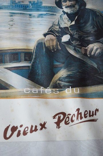 Cafe du Vieux Pecheur,Lucien Goubert,ルシアン ジョルジュ,アンティークフレーム,フレンチフレーム,アンティーク雑貨,通販6