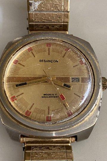 ブザンソン製腕時計,腕時計,アンティーク時計,スチール製,オブジェクト,アンティーク家具,通販 3