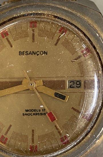 ブザンソン製腕時計,腕時計,アンティーク時計,スチール製,オブジェクト,アンティーク家具,通販 4