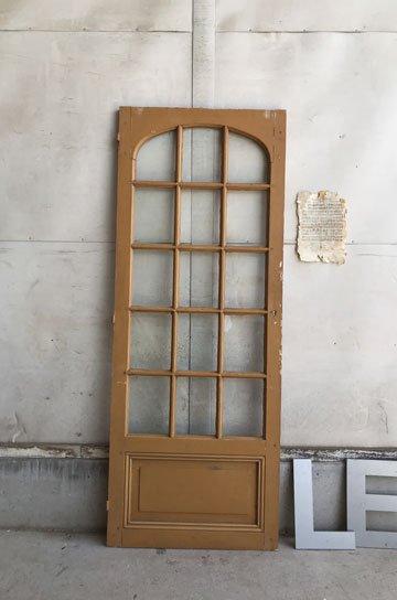 フレンチアンティークアーチガラスドア D81129