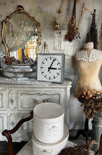 パラゴトロンクロック,パラゴトロン時計,オリジナル針,Pragotron,アンティーク時計,スチール角型,学校の古時計,壁掛け時計,アンティーク家具,通販 2
