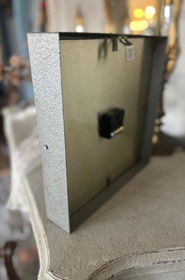 パラゴトロンクロック,パラゴトロン時計,オリジナル針,Pragotron,アンティーク時計,スチール角型,学校の古時計,壁掛け時計,アンティーク家具,通販 7