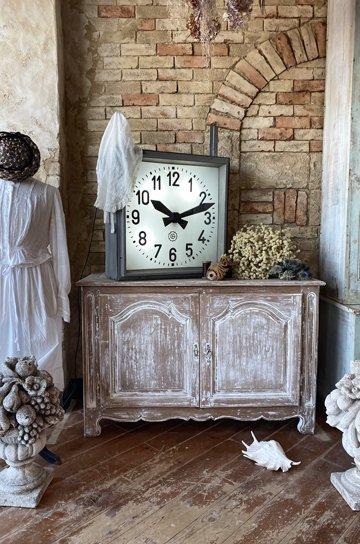 アンティーク時計,フランス国鉄,sncf,駅舎の時計,オリジナル針,スチール角型,古時計,壁掛け時計,アンティーク家具,通販 8