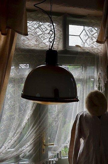 エナメルシェードファクトリーライト,インダストリアルライト,エナメルシェードランタン,アンティークガラスランタン,アンティークライト,アンティーク照明,メタル製ライト,アンティーク家具,通販1