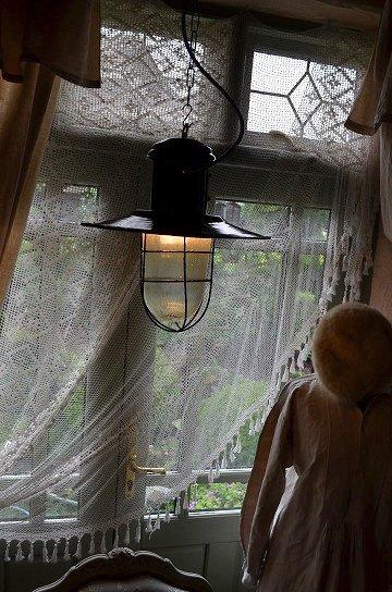 インダストリアルライト,エナメルシェードランタン,ホーローシェードライト,アンティークガラスランタン,アンティークライト,アンティーク照明,フレンチアンティーク家具,通販1