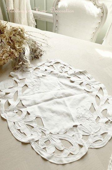 花柄カットワーク刺繍アンティークレース K84224