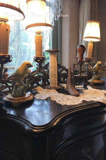 鳥と花のテーブルライト L87033a