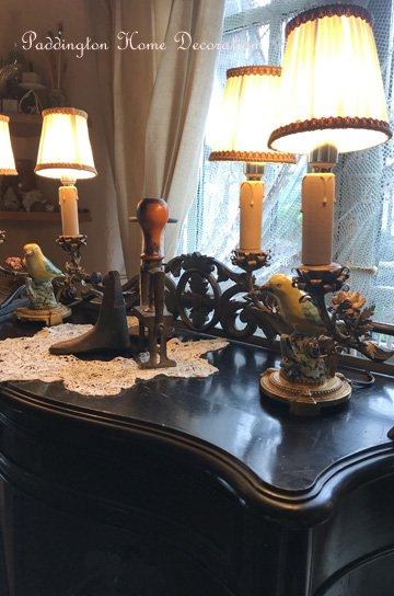 鳥と花のテーブルライト L87033b