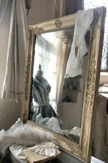 アンティークミラー,フレンチミラー,フレンチアンティーク,古い鏡,アンティーク額,ローズ彫刻,カーヴィングミラー,アンティーク家具,通販1