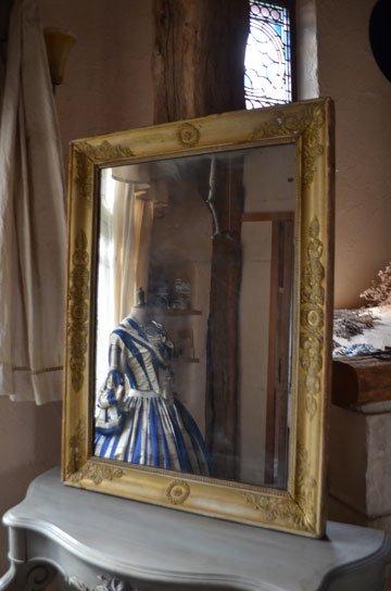 アンティークミラー,フレンチミラー,フレンチアンティーク,古い鏡,アンティーク額,ローズ彫刻,カーヴィングミラー,アンティーク家具,通販2