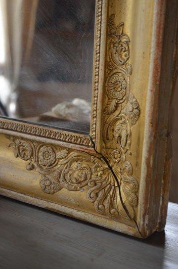 アンティークミラー,フレンチミラー,フレンチアンティーク,古い鏡,アンティーク額,ローズ彫刻,カーヴィングミラー,アンティーク家具,通販5