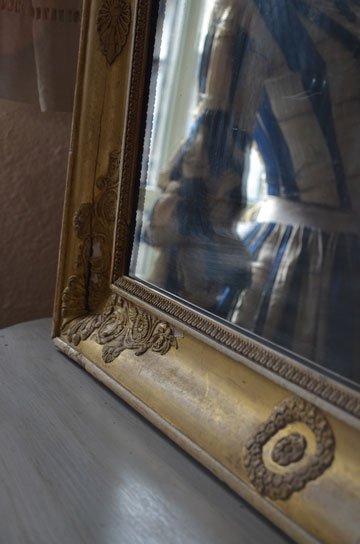 アンティークミラー,フレンチミラー,フレンチアンティーク,古い鏡,アンティーク額,ローズ彫刻,カーヴィングミラー,アンティーク家具,通販6