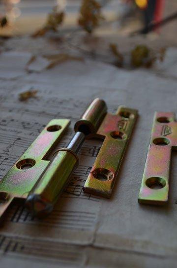 フランスヒンジ角型80mm,アンティークヒンジ,真鍮製ヒンジ,フレンチヒンジ,ゴールドヒンジ,丁番,蝶番,建築部材,建具,通販6