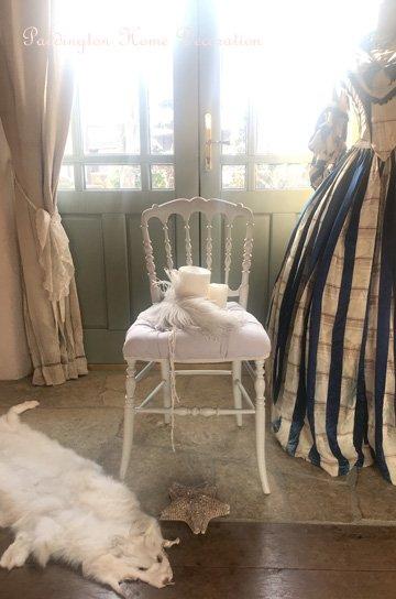 ホワイトナポレオンチェア,アンティークチェア,アンティーク椅子,ナポレオン3世チェア,フレンチアンティーク家具,通販,販売1