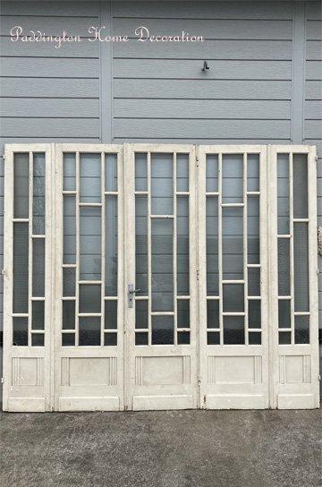 フレンチ格子ガラス5枚ドア D91027