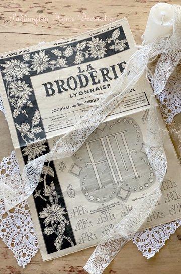 フランスの刺繍専門新聞 la broderie lyonnaise K91348c
