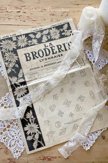 フランスの刺繍専門新聞 la broderie lyonnaise K91348d
