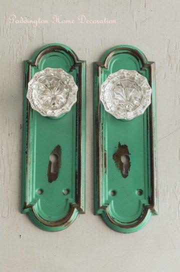 真鍮製ガラスノブドアプレート D91364