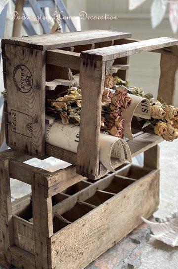 フランスのアンティーク木製ボックス R42190