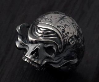 Ring/tellers skull 003 custom Jinny's/シルバーアクセサリー/スカル/リング/15~30号
