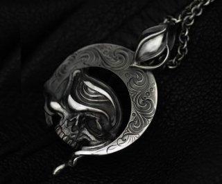 アラベスクスカルペンダント/tellers skull pendant top custom Jinny's 001/シルバーアクセサリー