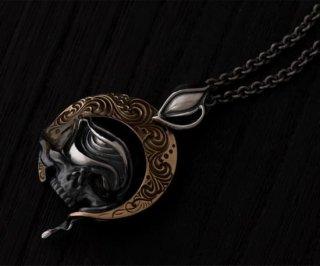 [真鍮カスタム]Pendant top /tellers skull pendant top custom Jinny's 001/シルバーアクセサリー/スカル/アラベスク