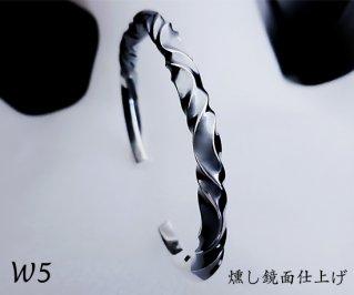 7つ波形の捻りバングル L /W5-7/シルバー950/14~19cm