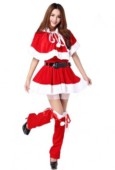 316f38e92bf79  M XXL XXXL  大きいサイズ有 フード ケープ ワンピース サンタ コスチューム コスプレ衣装 クリスマス ハロウィン サンタクロース