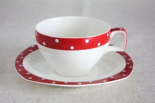 Midwinter(ミッドウィンター) Red Domino ヴィンテージカップ&ソーサー