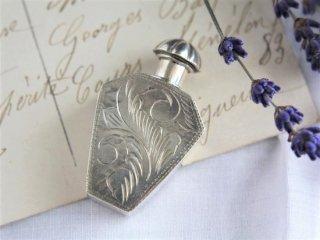 SILVER製  美しい彫刻のヴィンテージ香水瓶