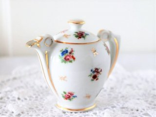 LIMOGES お花模様 ヴィンテージミルクポット