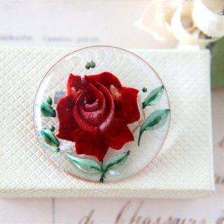 薔薇 ルーサイト インタリオ ヴィンテージブローチ