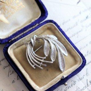 Sarah Coventry Jewelry  ボタニカル シルバートーン