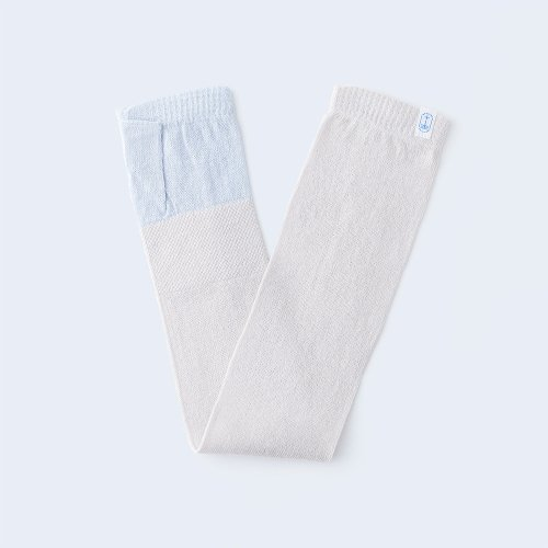 sunny knit basic light blue & ivory