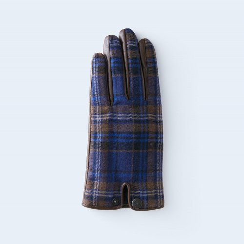 tartan check WOMEN blue