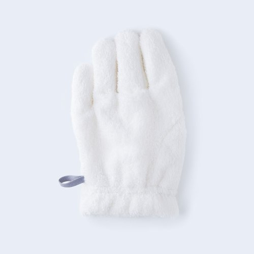 hair drying glove white