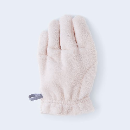 hair drying glove pink