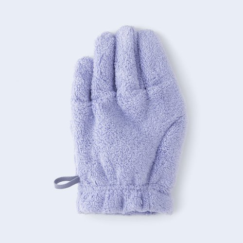hair drying glove LEFT lavender