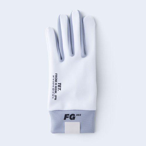 runners gloves MEN white