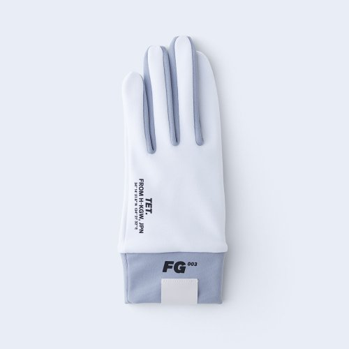 runners gloves WOMEN white